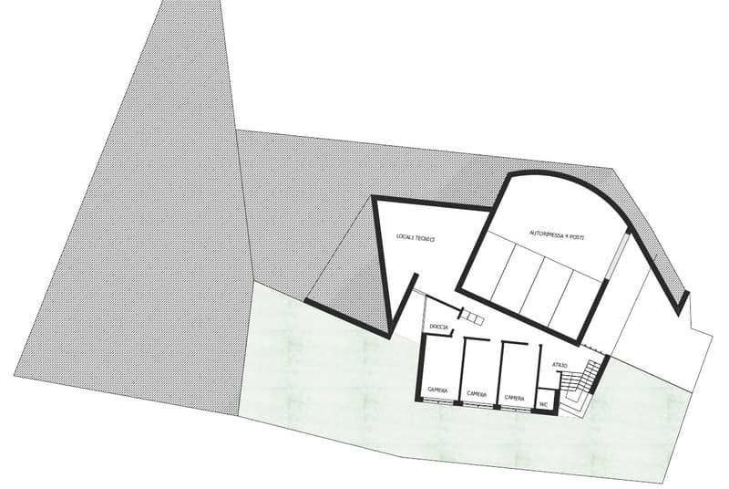 Piano terra e autorimessa - progetto