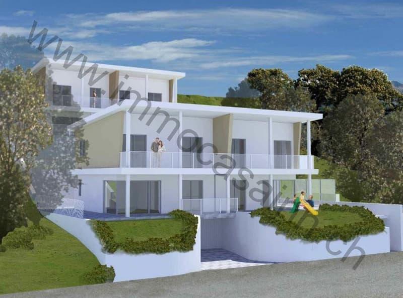 Nuova casa unifamiliare nel verde a Cassina d'Agno (1)