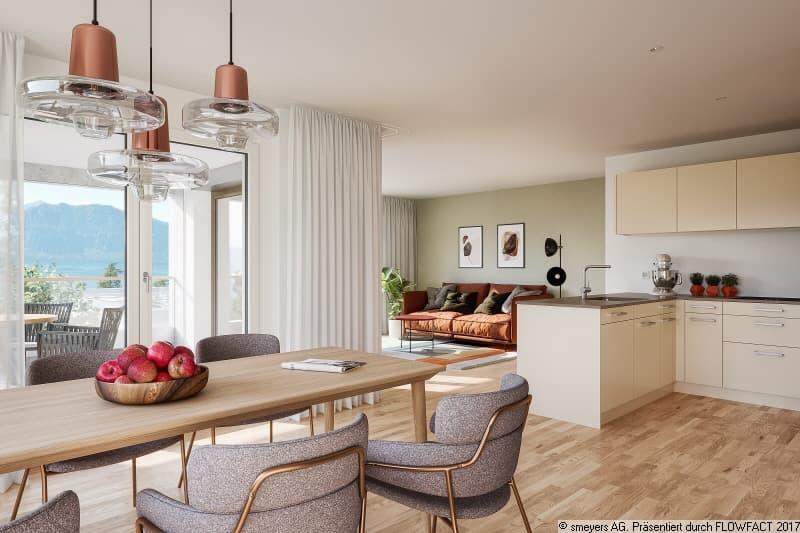 Toller Wohnbereich mit angrenzender Küche