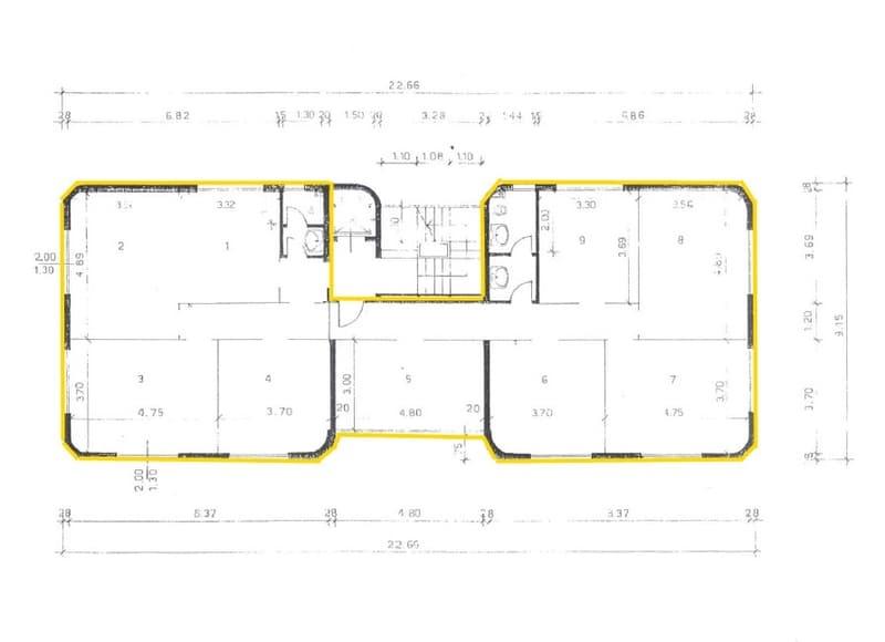 Uffici da 120 m² a 690 m² in palazzina di standing superiore in posizione centrale (13)
