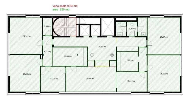 Uffici da ca. 230 m² a 460 m² in palazzina di standing superiore in posizione centrale (13)