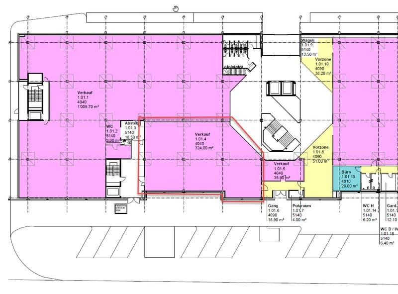 Verkaufsfläche bis zu 359 m2 in Ittigen (Talgut-Zentrum) zu vermieten (2)