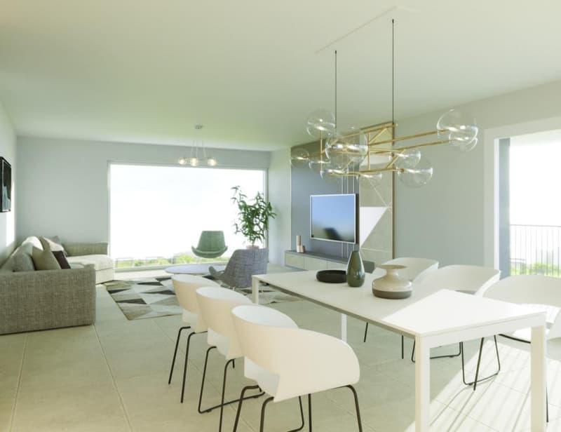 Séjour lumineux de 64 m2 avec sortie sur terrasse de 30,60 m2