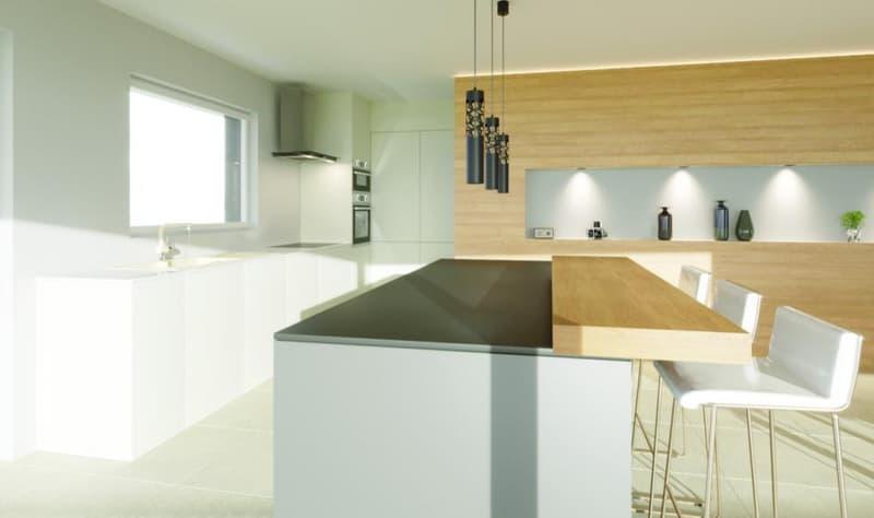 Grande cuisine avec îlot centrale (49,1 m2)
