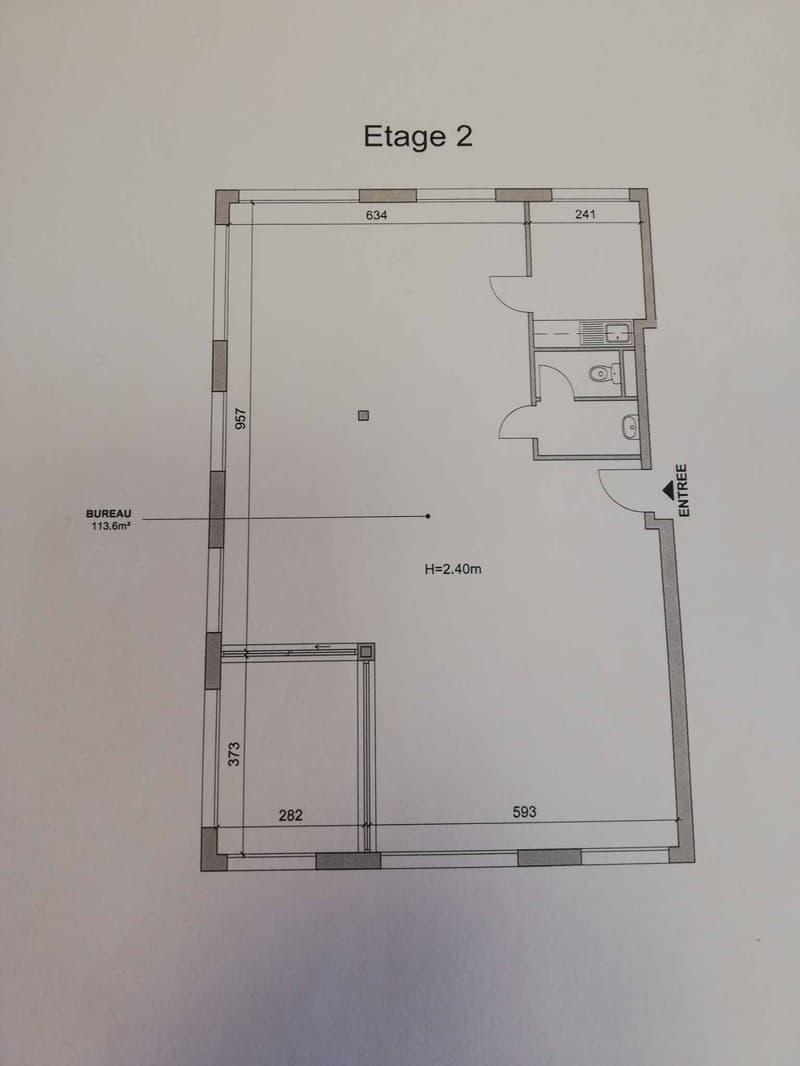 Lumineuse surface d'env. 113 m2 au 2ème étage + dépôt d'env. 12m2 dans les combles (10)