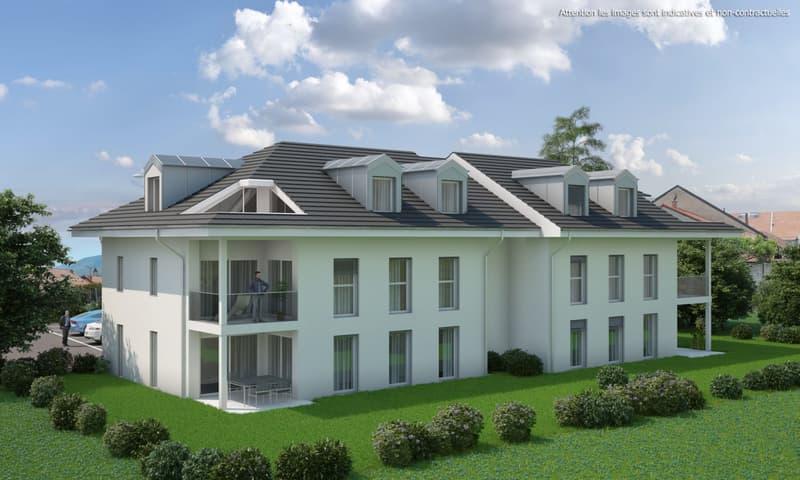 4,5 pièces neuf avec terrasse de 38 m2 et jardin privatif de 174 m2 (1)