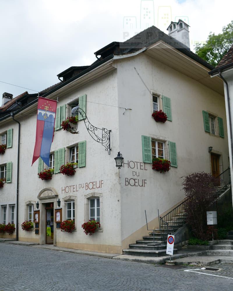 Hôtel-restaurant du Boeuf à St-Ursanne. (1)