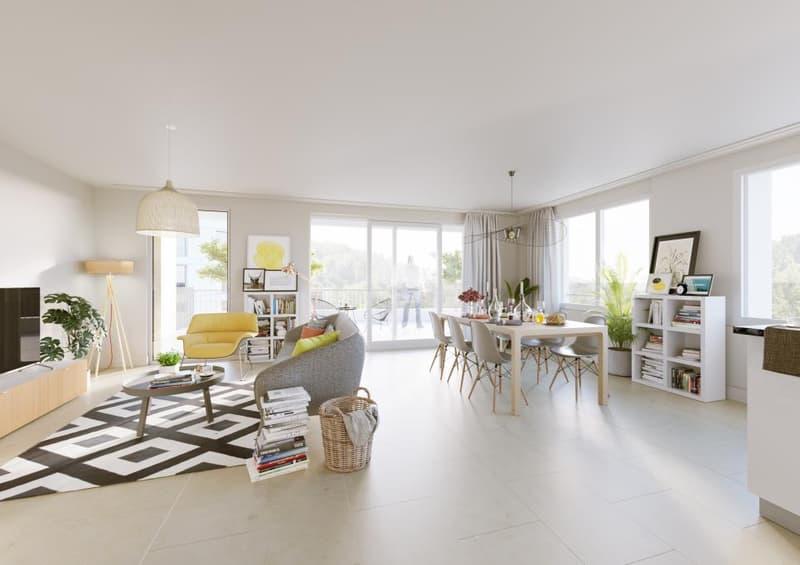 Dans le quartier des Moulins, appartement de 2.5 pièces au rez-de-chaussée (2)