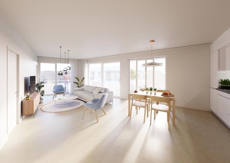 Dans le quartier des Moulins, appartement de 2.5 pièces au rez-de-chaussée (1)