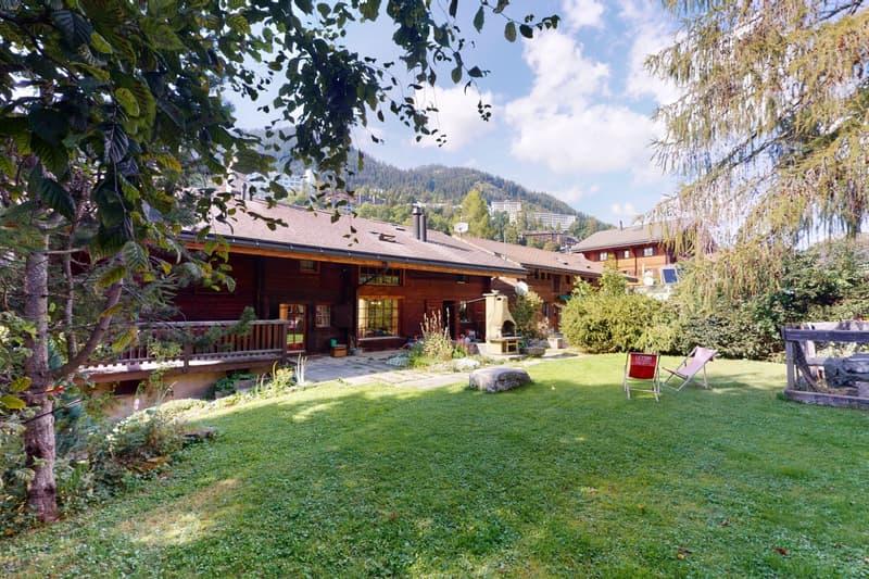 Superbe chalet de 2 logements avec grand jardin au coeur de Leysin (2)
