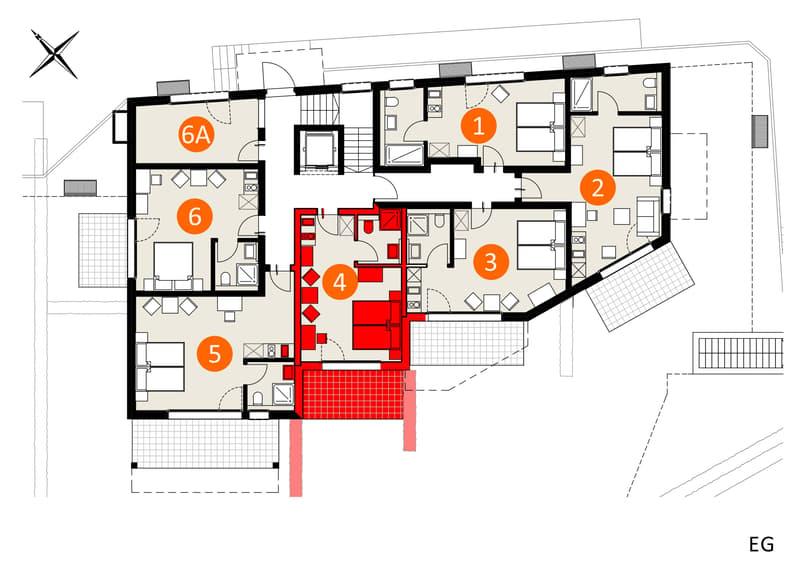 Top Modernes Möbiliertes Studio im Apartment-Haus Gränichen in ruhigem Quartier an bester Lage (1)