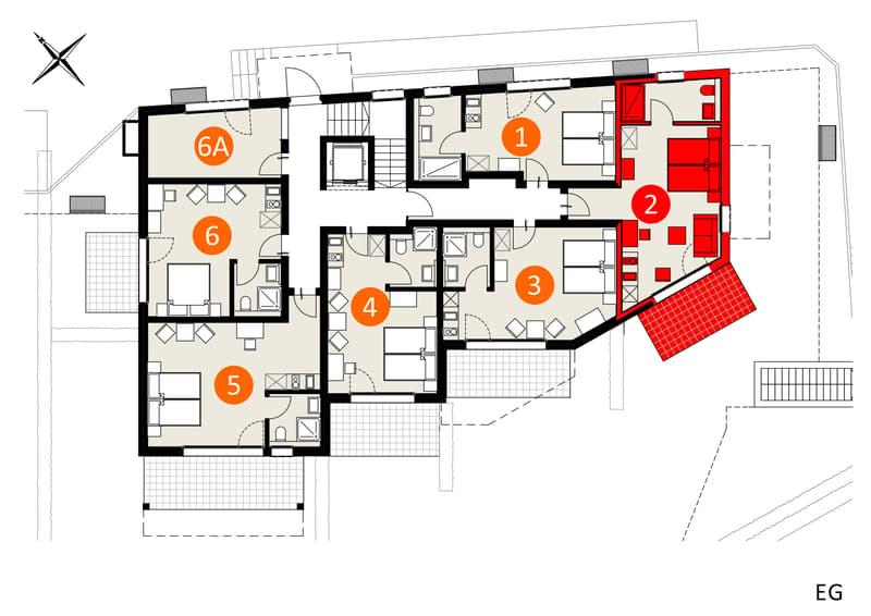 Top Modernes Möbiliertes Studio im Apartment-Haus Gränichen (1)