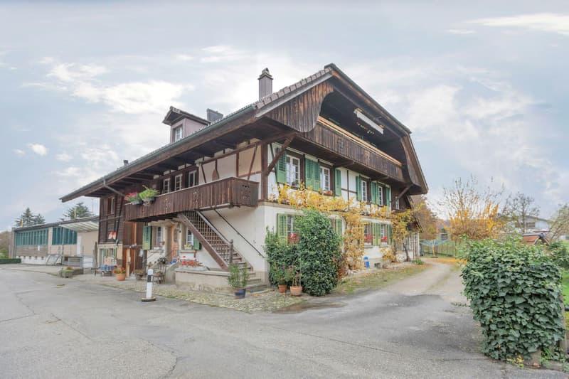 Umgebautes 5-Familien-Bauernhaus am Dorfrand mit Baulandreserven (1)