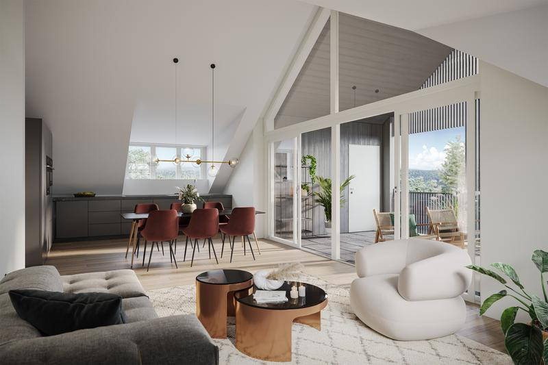 Ansprechende 4.5 Zimmer-Dachwohnung an attraktiver Lage (1)