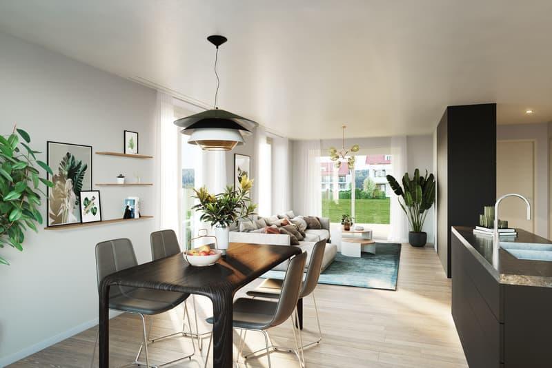 Ansprechende 3.5 Zimmer-Eigentumswohnung mit grosszügigem Balkon (2)