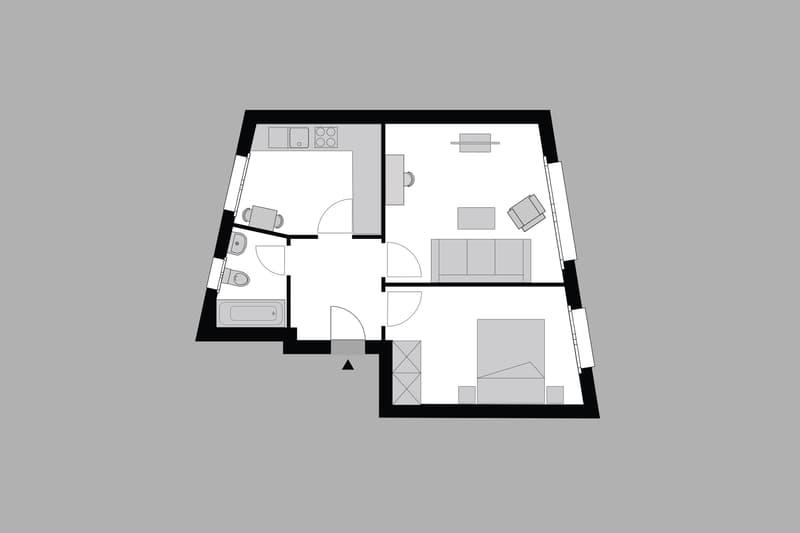 Furnished 1-bedroom Apartment near Hirslanden, Balgrist / Möbliertes 2-Zimmer Apartment (9)