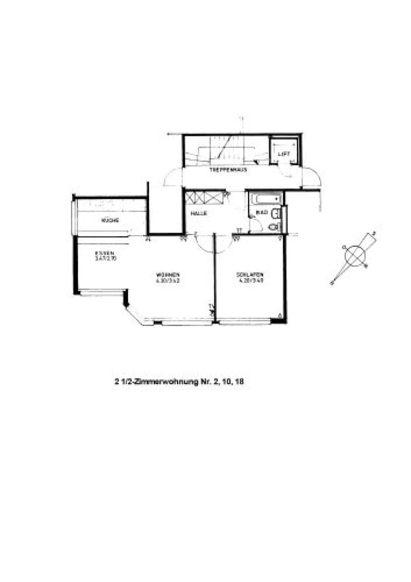 Möbliertes Studio mit 2 Zimmern (2)