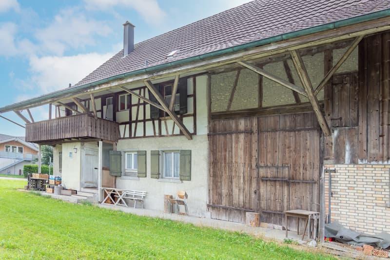 """8-Zimmer-Riegelhaus mit Scheune inmitten einem neuen """"Dörfli"""" (2)"""