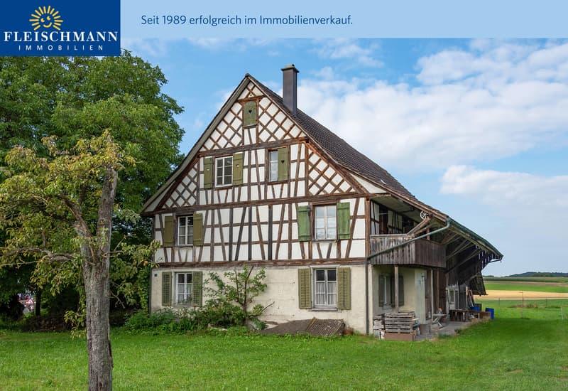 """8-Zimmer-Riegelhaus mit Scheune inmitten einem neuen """"Dörfli"""" (1)"""