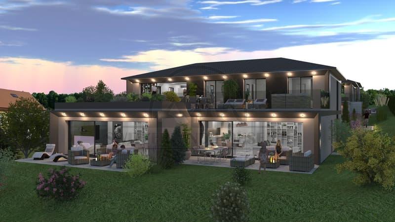 Magnifiques et spacieux 3,5 pcs avec terrasse et jardin à Seiry Lully (2)