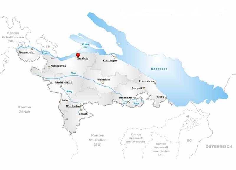 Lageplan im Kanton Thurgau