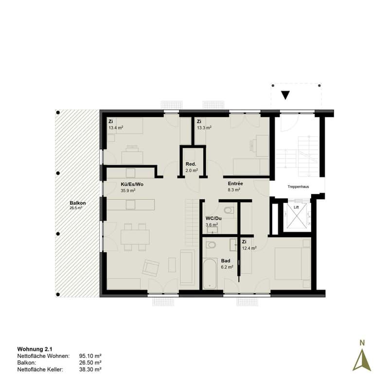 Erstbezug - 4.5-Zimmer Erdgeschosswohnung (4)