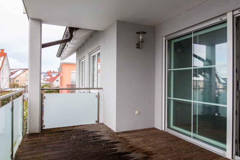 Der überdachte Balkon