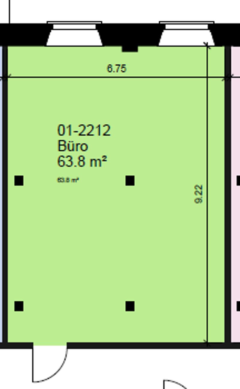 Grundriss Fläche mit 63.8m2