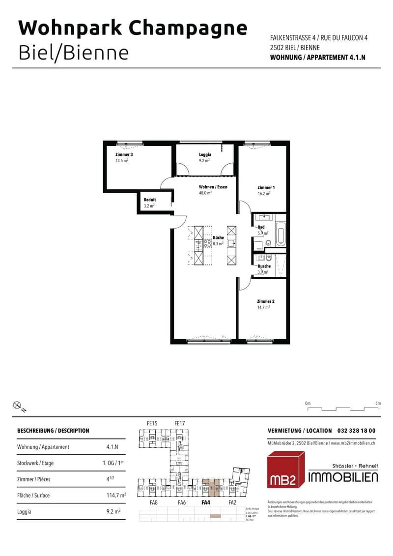 Helle, moderne 4.5-Zimmerwohnung im 1. Obergeschoss (6)