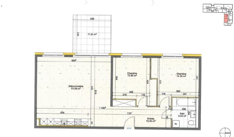 Appartements neufs de 3.5 pièces dès CHF 1'715.- charges comprises (1)