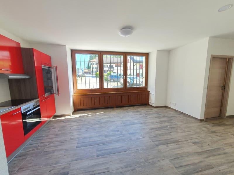 Appartement 3.5 pièces au rez au prix de CHF 1150.- charges comprises (1)