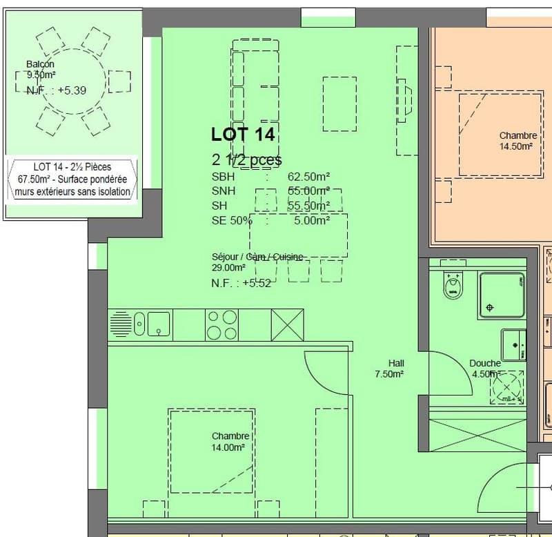 ''Les Ormonts B'' Appartement de 2.5 pièces - B14 (2)