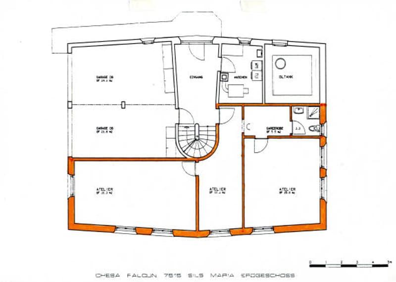 Büro/Atelier an wunderschöner ruhiger und sonniger Lage in Sils im Engadin (4)