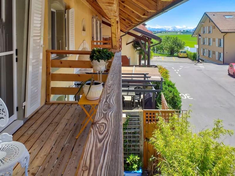 DUPLEX avec jardin à 15 min. de Lausanne-Ouchy et 4 places de parking (1)