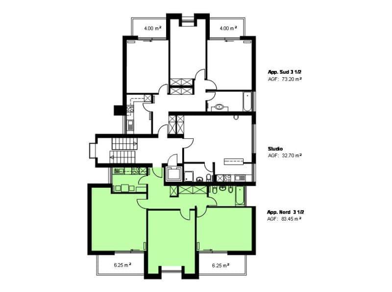 3 1/2 Zimmer-Wohnung (2)