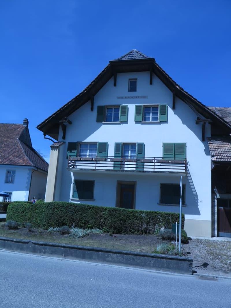 Mehrfamilienhaus in Härkingen mit zwei Wohnungen und Bachanstoss (1)