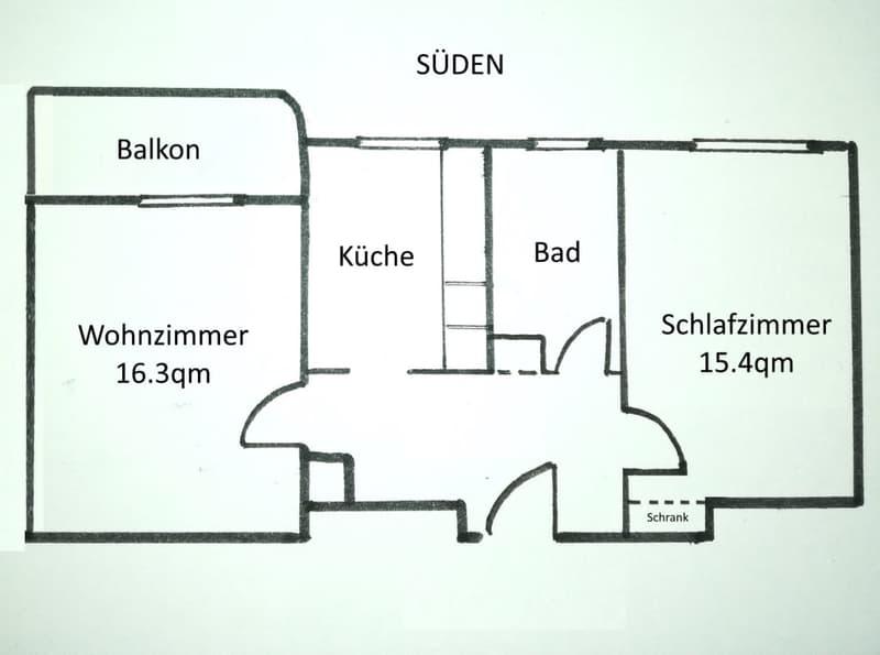 Helle 3-Zimmer-Altbauwohnung in Seenähe (4)