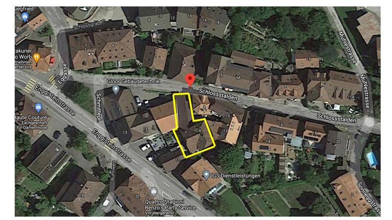 Gebäudekomplex mit 3 Wohnungen, Schopf und 3 Einstellhallenplätze (1)