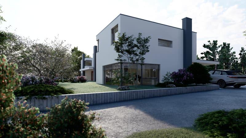 Brè S/Lugano: edificazione di 3 villette unifamigliari (13)