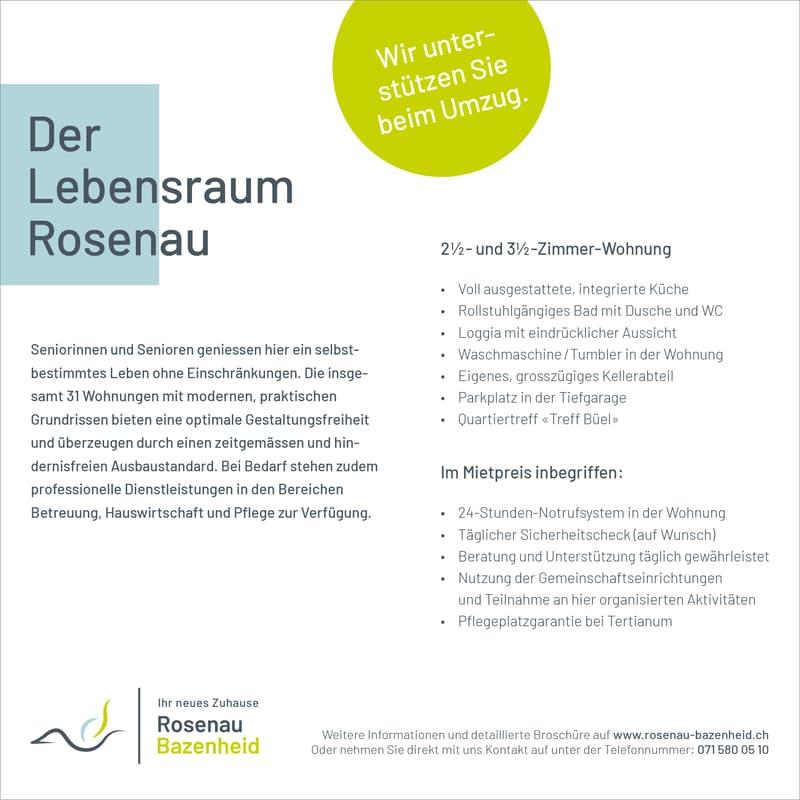Angebot Lebensraum Rosenau