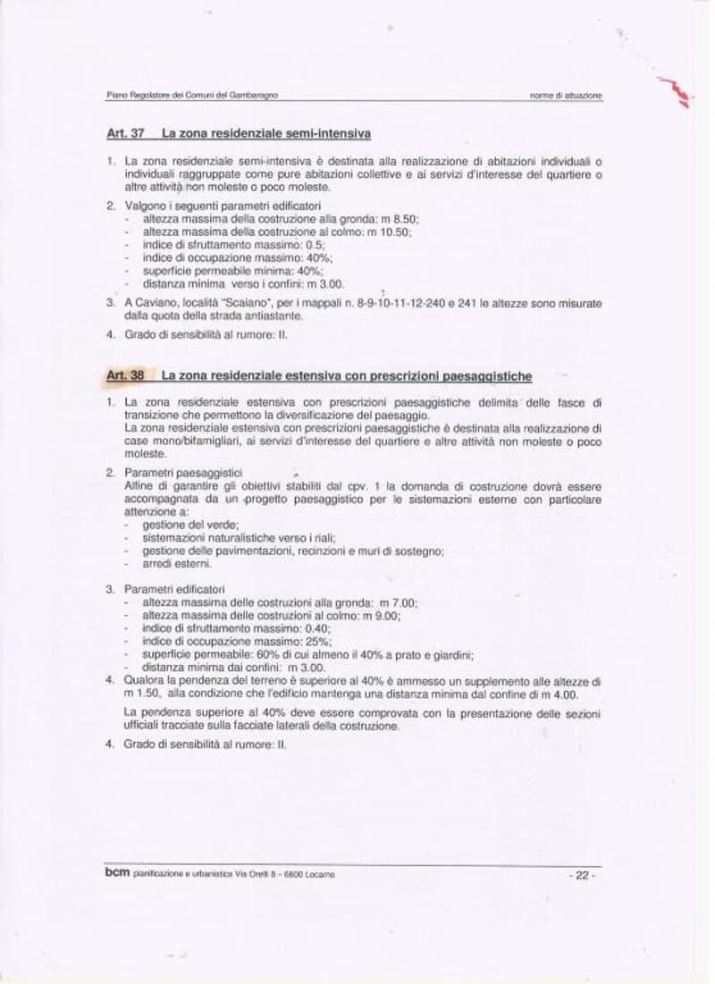 Zonenplan Art. 38