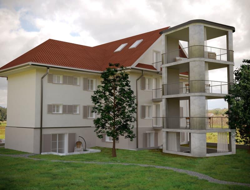 Visualisierung 5-Familien-Haus (bewilligtes Bauprojekt)