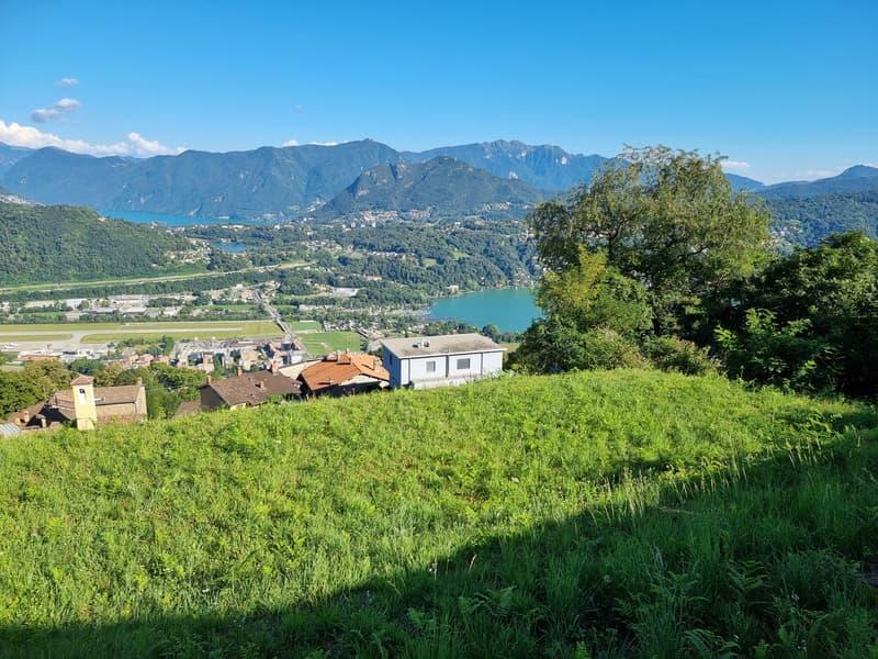 Terreno Edificabile a Cimo, Vista aperta sul Golfo di Lugano ed i suoi Laghi (1)