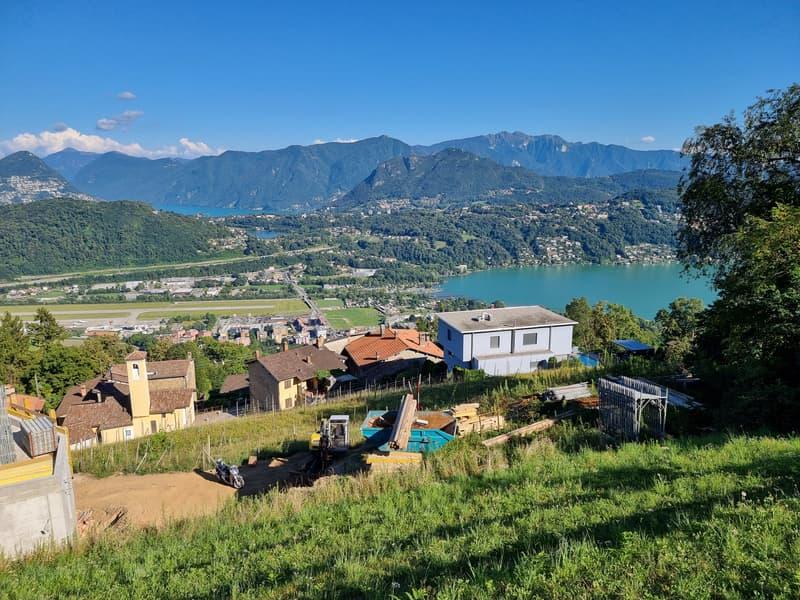 Terreno Edificabile a Cimo, Vista aperta sul Golfo di Lugano ed i suoi Laghi (2)
