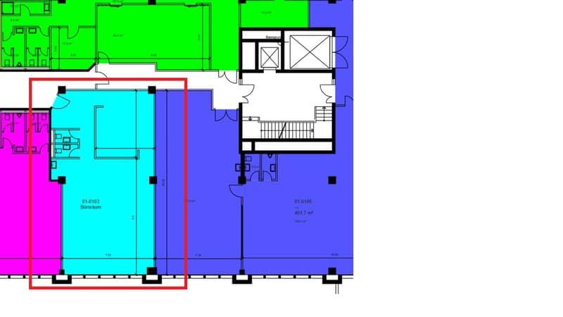 «zentral, ruhig und gut erschlossen - Ihre neue 128m² Bürofläche» (2)