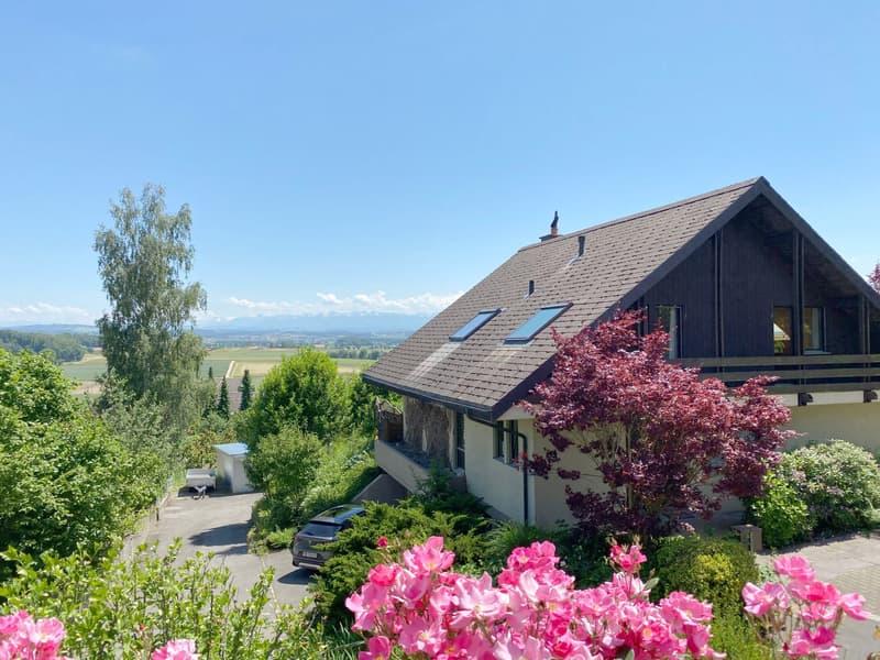 Freistehendes Einfamilienhaus mit prächtiger Bergsicht (1)