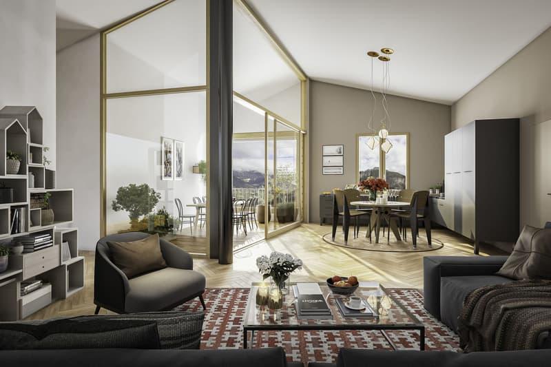3.5 Zimmer Gartenwohnung Neubau Casa Nido Thusis (2)