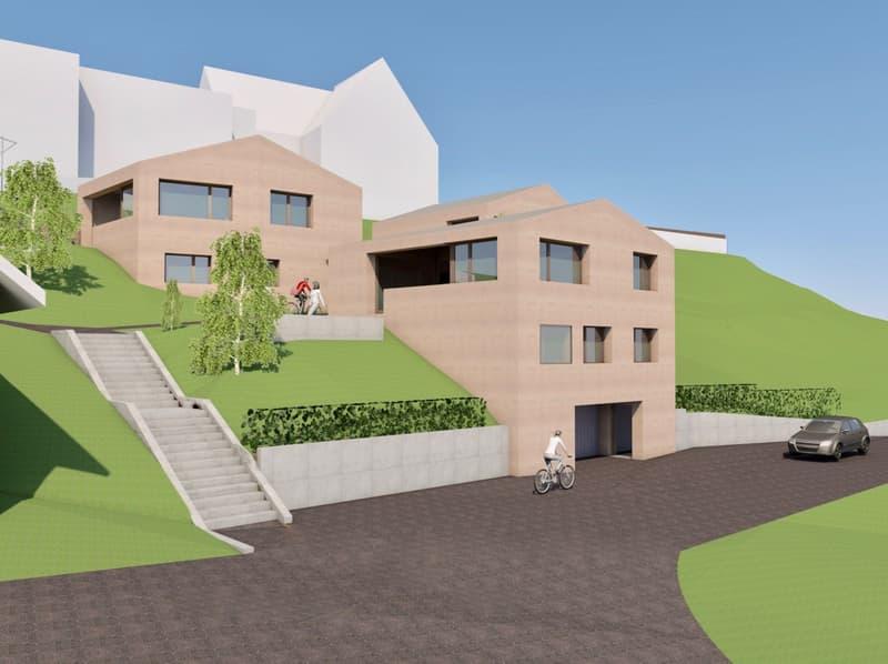 Neubau - Einfamilienhaus an Südhanglage (1)