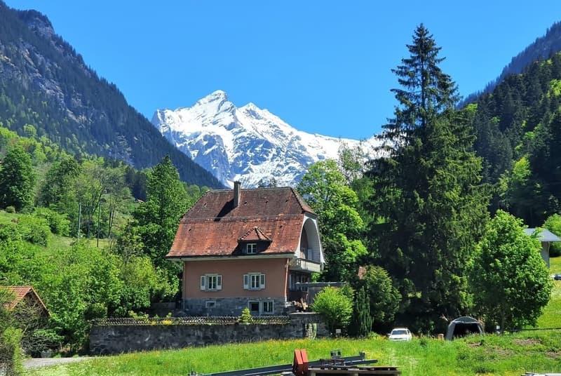 Einfamilienhaus in naturverbundener Lage mit Sicht in die Berge (1)