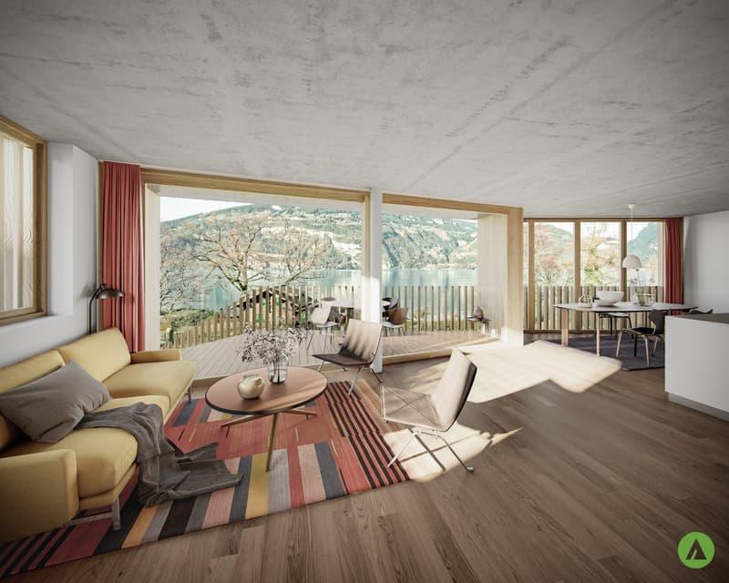 """3½-Zimmer-Gartenwohnung in grandioser Architektur - """"Am See Leissigen"""" (1)"""